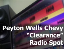 "Payton Wells Chevy ""Clearance"" Radio Spot"
